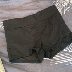 Black swim short bottoms